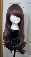 Gradient Ombre Purple Brown Lavender Fashion Cute Wig Cosplay Costume