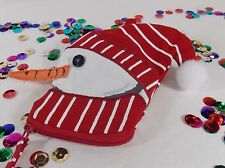 Snowman Coin Purse Canvass Red Scarf & Hat Carrot Nose Thirty-One