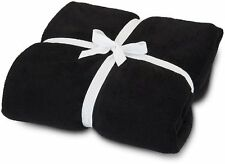 Solid Black Blanket Bedding Throw Flannel Full Queen Super Soft New Bedding