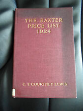 "The Baxter Price List 1924 - Supplement to ""George Baxter the Picture Printer"""
