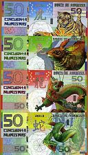 POLYMER SET, Kamberra  4 x 50; 2010-2011-2012-2013   Tiger Rabbit Dragon Snake