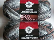 Loops&Threads Charisma bulky yarn, Ashes, lot of 2 (109 yds each)