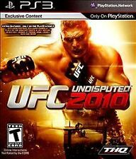UFC Undisputed 2010 GAME Sony PlayStation 3 PS PS3 2K10 10