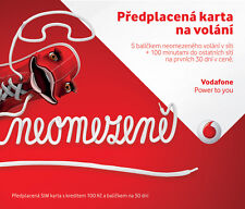 Vodafone Czech Republic prepaid SIM card - Credit 100 CZK