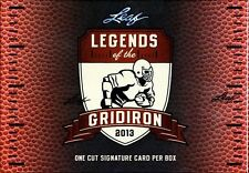 2013 Leaf Legends of the Gridiron Football Factory Sealed Hobby Box