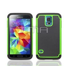Samsung Galaxy S5 / S5 Neo Rugged Heavy Duty Hybrid Impact Case Cover - Green