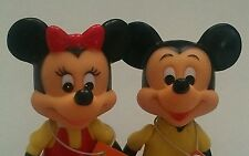 Vintage Mickey Minnie Mouse Walt Disney Productions Figures with Tags Hong Kong