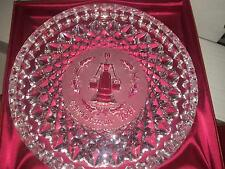 WATERFORD CRYSTAL 12 DAYS OF CHRISTMAS PLATE DISH 1991 EIGHT MAIDS A MILKING 8""