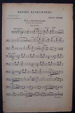 partition ancienne DANSES ALSACIENNES - basson