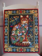 Handmade Pixel  Mosaic Art Home Decor Fancy Cat