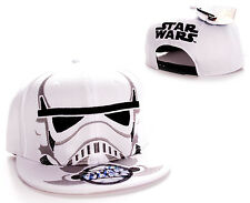 STUNNING STAR WARS STORM TROOPER CLOSE UP MASK SNAPBACK CAP HAT *BRAND NEW*