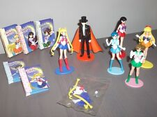 SAILOR MOON MINI FIGURE SET +  5 MINI FAN BOOK GIOCHI PREZIOSI (H. 7 CM)