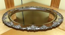 """New listing Godinger Grape Silver Plated 17"""" Oval Tray"""