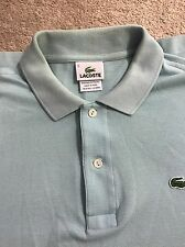 Lacoste MEN'S Light Blue Polo SHIRT, Size 5 Regular Fit Pre Owned