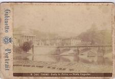 Originale Photo Cabinet 19ème - Italie Turin Pont de Pierre Cappucini Cappuccini