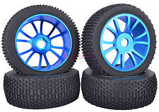 SET RC 1:8 Off-Road Buggy Car Rubber Tyre Tires Metal Wheel Rim Blue M804B1