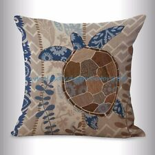 US SELLER- sealife marine nautical turtle ocean animal cushion cover decorative