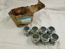 """COOPER CROUSE-HINDS 454 SET SCREW CONNECTOR 1-1/2"""" (BOX OF 7) ***NIB***"""