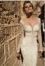 Galia Lahav Navona size 2 shimmering VERY low back mermaid wedding dress