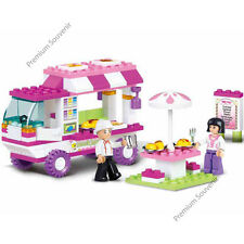 Building Blocks Sluban Bricks Toy Princess Restaurant Truck Car Minifigure Set