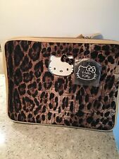 HELLO KITTY Leopard Print Laptop Case