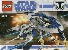 LEGO STAR WARS 'DROID GUNSHIP' #7678 ALL 3 MINIFIGURES 100% COMPLETE GUARANTEE