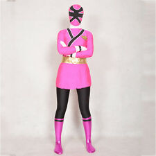 Power Rangers Samurai cosplay adult Men Halloween costumes full bodysuit Zentai