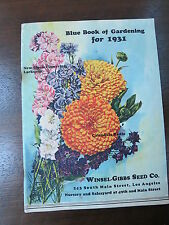 1931 Blue Book Winsel Gibbs Seed Co Los Angles CA Colorful vintage catalog