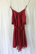 Vanessa Bruno Paris Athe' Burgundy Red Embroidered Silk Dress France sz 34 xs 0