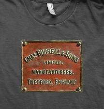 BURRELL TRACTION ENGINE LIVE STEAM EMBLEM T SHIRT