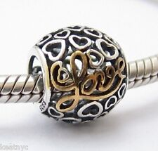MESSAGE TO MY LOVE CHARM Bead Sterling Silver .925 for European Bracelets 764