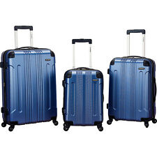 "Rockland Luggage 3 Pcs 20"" 24"" 28"" Spinner Sonic Upright Set, Blue  Please read"