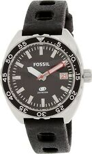 Fossil Men's Breaker FS5053 Black Rubber Quartz Watch