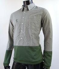 Diamons Supply co. Green Oxford Crew Woven L/S Shirt Mens Size Medium