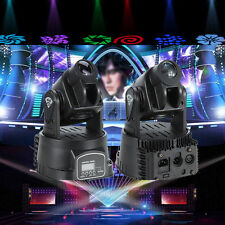 2x 15W RGB LED MINI Moving Head Light 13CH DJ Disco Club Show Stage Lighting DMX