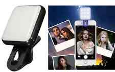 9 LED SELFIE Luce Flash TELEFONO Retina luce flash per iPhone IOS Samsung Nero