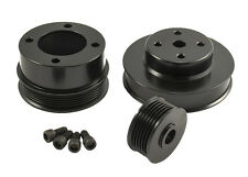 1986-1993 Mustang GT LX 5.0 302 BLACK Billet Aluminum Underdrive Pulleys