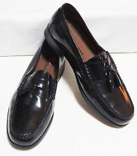 JOHNSTON & MURPHY Pannell Tassel Leather Slip-On Shoes (Black )SIZE 9.D/M #2377