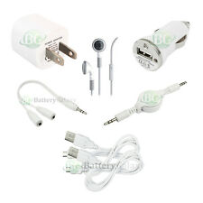 7 pc Kit USB Cable+Car+Wall Charger for Android Samsung Galaxy S S2 S3 S4 3 4 W