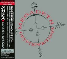 "MEGADETH ""Cryptic Writings"" CD import Japan 1997 (TOCP-50211) +Obi Liner !"
