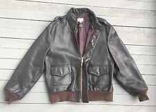 Vintage 1970s Wear Guard A-2 Leather Bomber Jacket Buffalo Leather Sz 44