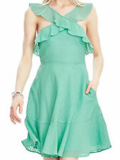 Banana republic Mint Halter-Ruffle Dress Sz 4