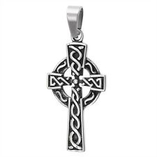 Classic CELTIC CROSS Stainless Steel Pendant Charm Jewelry