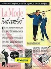 PUBLICITE ADVERTISING 015  1957  TERGAL ELASTISS anorak fuseau de ski