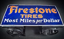 Original Firestone Tires Porcelain Gas Oil Sign  - INVESTMENT CONDITION