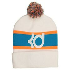 Brand New with Tags Adult unisex Nike KD 8 Knit Pom Beanie Hat White/Blue Lagoon