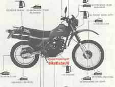 Genuine Honda XL250R (1982-on) Factory Manual Addendum XL 250 R MD03 (pre-RFVC)