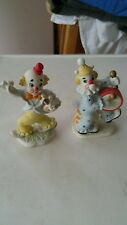 VINTAGE PORCELAIN  2 CLOWN STATUES  EXCELENT CONDITION