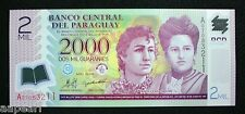 Paraguay 2000 GUARANIE Paper Money UNC Banknotes rare Collection Uncirculated