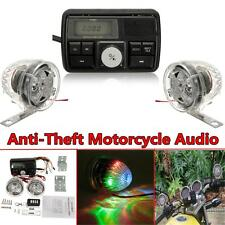 Anti-Theft Motorcycle Audio Radio MP3 iPod Stereo System Speaker Sound FM USB SD
